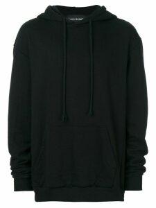 Yuiki Shimoji drawstring hoodie - Black