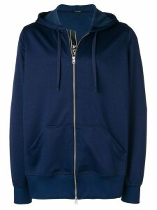 À La Garçonne side stripe zipped hoodie - Blue