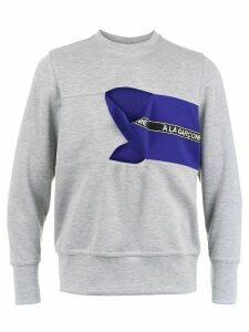 À La Garçonne cut out detail sweatshirt - Grey