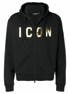 Dsquared2 Icon print hoodie - Black