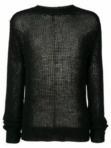 Unravel loose knit jumper - Black