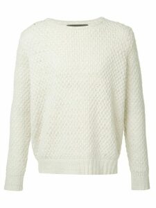 The Elder Statesman cashmere crew neck jumper - White