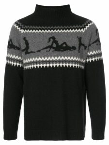 The Elder Statesman The Fairest Isle sweater - Black
