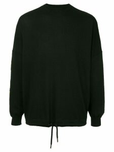 Palm Angels palms and flames jumper - Black
