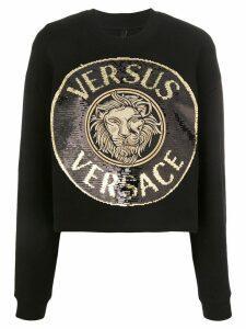 Versus sequin-embellished medallion sweatshirt - Black