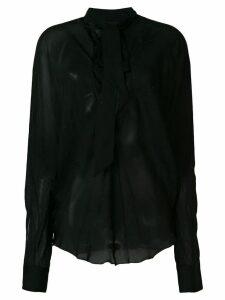 Alexandre Vauthier tie neck blouse - Black