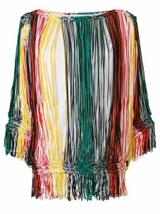 Sonia Rykiel striped off-the-shoulder blouse - Multicolour