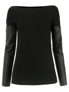 Gloria Coelho detachable sleeves blouse - Black