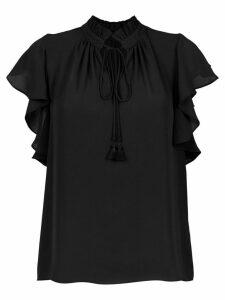 Olympiah Juli frill trimmed blouse - Black