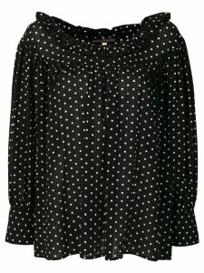 Alexa Chung polka dotted loose blouse - Black