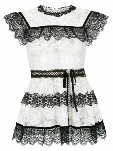 Martha Medeiros Pitty lace blouse - White