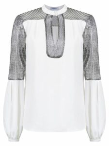 Olympiah panelled Titicaca blouse - White