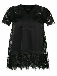 À La Garçonne lace detail blouse - Black