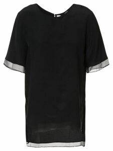 Prabal Gurung sheer trim blouse - Black