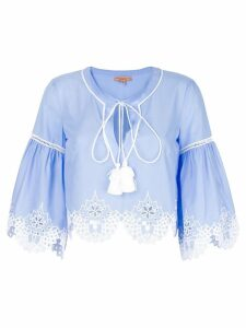 Ermanno Scervino embroidered hem blouse - Blue