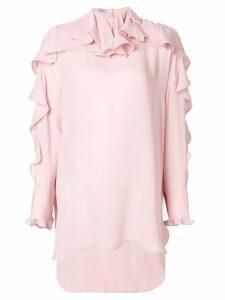 Valentino asymmetric ruffle blouse - Pink