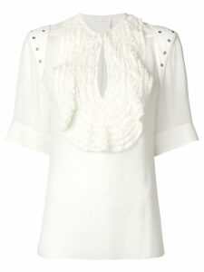 Chloé ruffled bib blouse - White