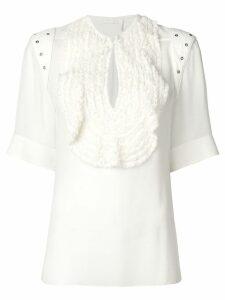 Chloé ruffled bib blouse - White