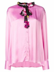 MSGM satin blouse - Pink