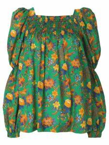 La Doublej garden print blouse - Green