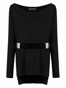 Gloria Coelho belted knit blouse - Black