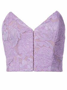 Fleur Du Mal strapless lace top - PINK