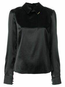 Styland classic collar blouse - Black
