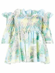 Emilio Pucci ruffled off-the-shoulders blouse - Multicolour
