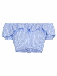 Miu Miu off-shoulder strap cropped top - Blue