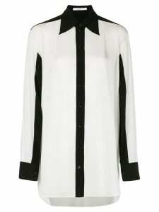 Givenchy contrast trim blouse - White