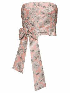 Prada lurex jacquard top - Pink