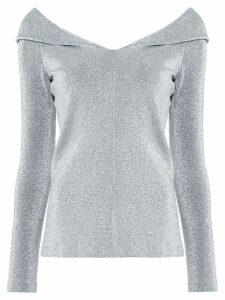 Rosetta Getty metallic effect blouse