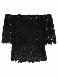 Bambah floral lace patterned off-shoulder top - Black