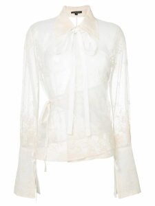 Ann Demeulemeester lace embroidered blouse - White