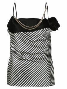 LANVIN embellished striped blouse - Black