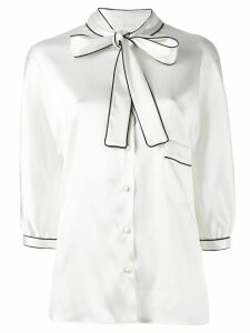 Dolce & Gabbana pussy bow blouse - White