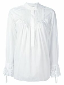 Chloé broderie anglaise pintuck blouse - White