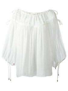 Chloé seersucker blouse - White
