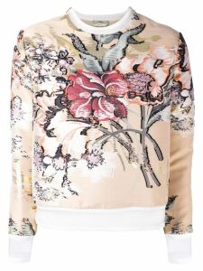 Fendi layered floral top - NEUTRALS