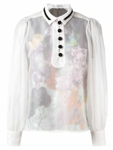 Carven sheer buttoned blouse - White