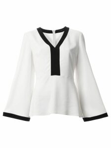Etro v-neck blouse - White