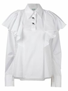 Kenzo oversized ruffled blouse - White