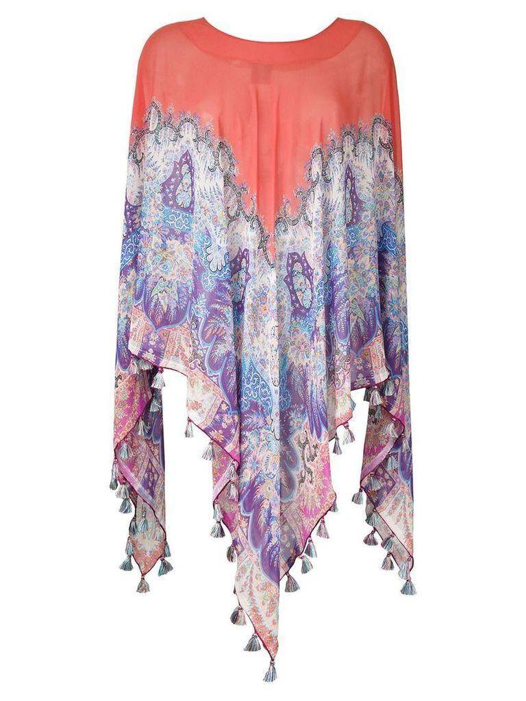 Etro printed silk cape - Multicolour