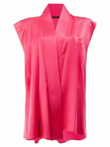 Haider Ackermann wrap front blouse - Pink