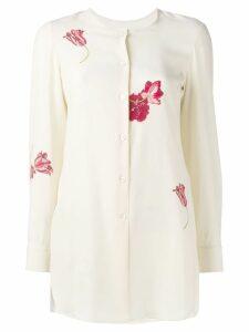 Salvatore Ferragamo floral-print shirt - NEUTRALS