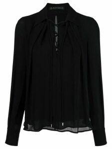 Plein Sud lace-up neck blouse - Black