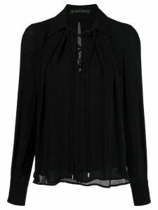 Plein Sud lace-up neck blouse - Black