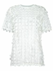 Carven lace detail blouse - White