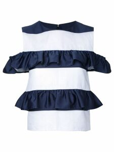 Goen.J ruffle tiered top - White