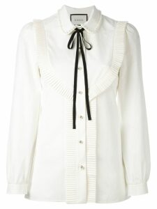Gucci pleated trim blouse - Neutrals